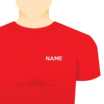 Left Chest Name or Plain Text- In-House Embroidery - Online Workwear