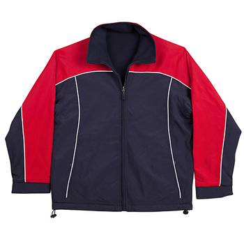 Navy-White-Red - JK22 CASCADE Tri-Colour Contrast Reversible Jacket - Winning Spirit