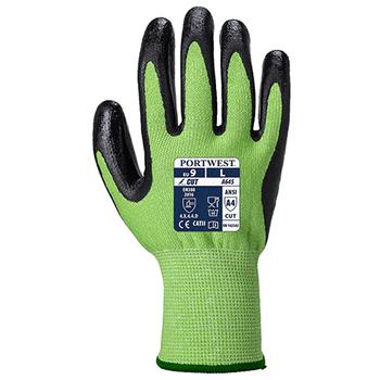 A645 Gloves Green Cut - Nitrile Foam - Portwest