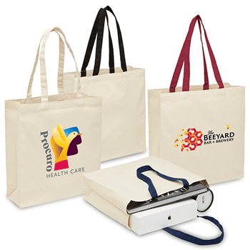 Natural - 2002 Heavy Duty Canvas Tote with Gusset - Legend