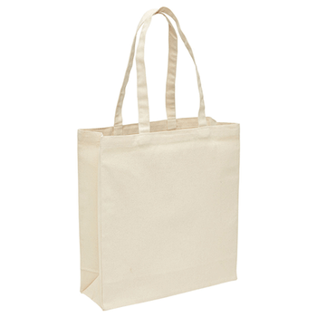 Natural-Black - 2002 Heavy Duty Canvas Tote with Gusset - Legend