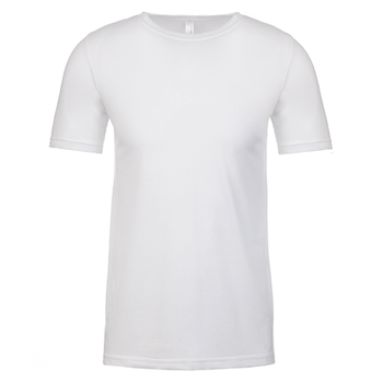 White - NL6200 Poly/Cotton Crew - Next Level