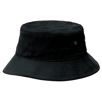 Black-Black - 4007 Sandwich Brim Bucket Hat - Legend