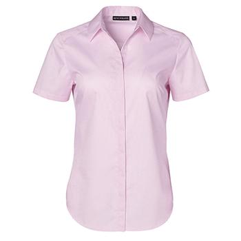 Soft Pink - M8110S Barkley Ladies Taped Seam Short Sleeve Shirt - Winning Spirit