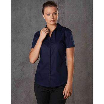 M8110S Barkley Ladies Taped Seam Short Sleeve Shirt - Winning Spirit