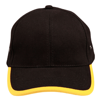 Black-Gold - CH17 Peak and Back Trim Cap - Winning Spirit