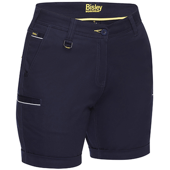 Navy - BSHL1015 Womens Stretch Cotton Short - Bisley