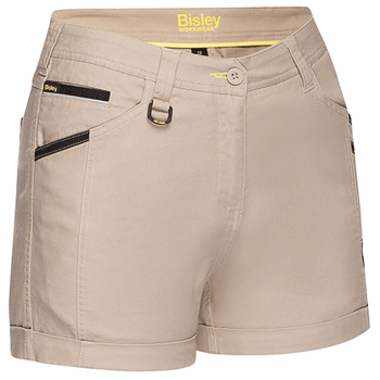 Stone - BSHL1045 Womens Flex and Move Short Short - Bisley
