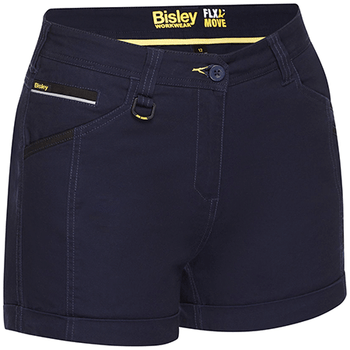Navy - BSHL1045 Womens Flex and Move Short Short - Bisley