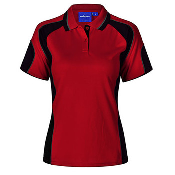 E-PS62 - Ladies Alliance Polo - Red-Black