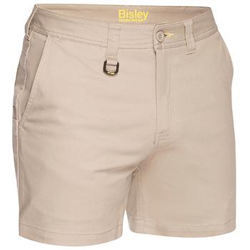 Stone - BSH1008 Mens Stretch Cotton Cargo Short - Bisley