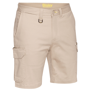 Stone - BSHC1008 Mens Stretch Cotton Cargo Short - Bisley