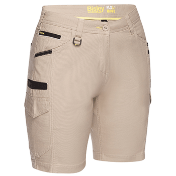 Stone - BSHL1044 Womens Flex and Move Cargo Short - Bisley