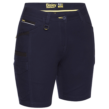 Navy - BSHL1044 Womens Flex and Move Cargo Short - Bisley