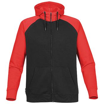 Black-Bright Red - CFZ-5 Mens Omega Zip Hoodie - STORMTECH