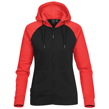 Black-Bright Red - CFZ-5W Womens Omega Zip Hoodie - STORMTECH