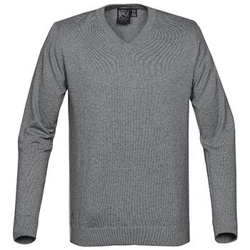 Grey Heather - SVN-1 Mens Laguna V-Neck Sweater - STORMTECH