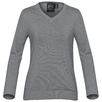 Grey Heather - SVN-1W Womens Laguna V-Neck Sweater - STORMTECH