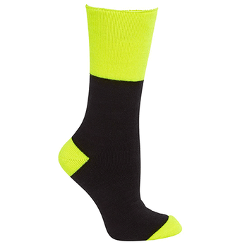 Black-Lime - 6WWS JBs Work Sock - JBs Wear