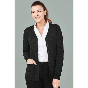 CK045LC Womens Button Front Cardigan - Biz Care