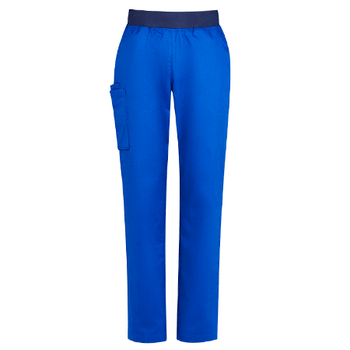 Electric Blue - CSP047LL Womens Riley Straight Leg Scrub Pant - Biz Care