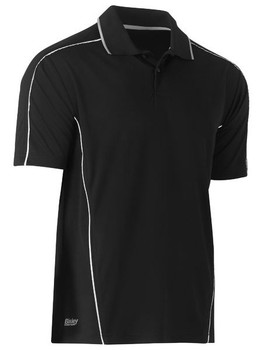 BK1425 - Cool Mesh Polo Shirt - Black