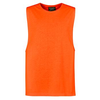 Orange - ZH297 Mens His Vis Sleeveless Tee - SYZMIK