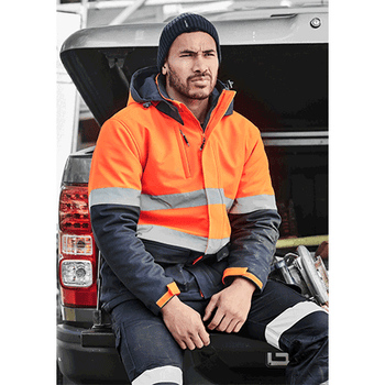 ZJ553 Unisex Hi Vis Antarctic Softshell Taped Jacket - SYZMIK