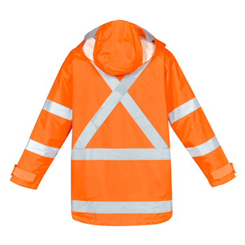 ZJ616 Mens Hi Vis X Back Taped 4 in 1 Waterproof Jacket - SYZMIK