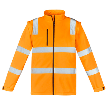 Orange - ZJ780 Unisex Hi Vis Vic Rail 2 in 1 Softshell Jacket - SYZMIK
