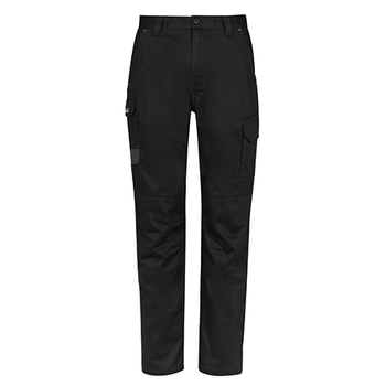 Black - ZP145S Mens Summer Cargo Pant - Stout - SYZMIK