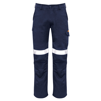 Navy - ZP521S Mens Taped Cargo Pant - Stout - SYZMIK