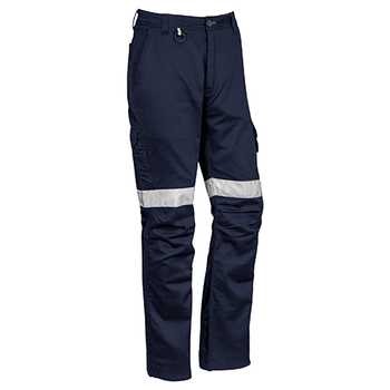Navy - ZP904S Mens Rugged Cooling Taped Pant - Stout - SYZMIK