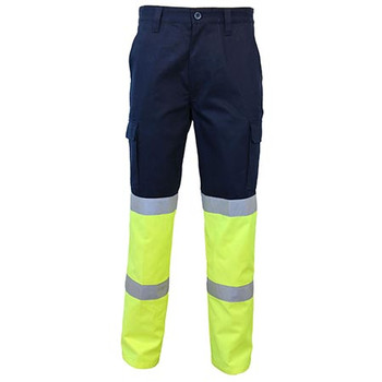 Navy-Yellow - 3363 2-Tone Biomotion Taped Cargo Pants - DNC Workwear