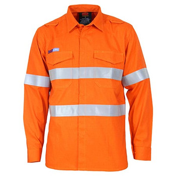 Orange - 3456 Inherent FR PPE2 M/W D/N Shirt - DNC Workwear
