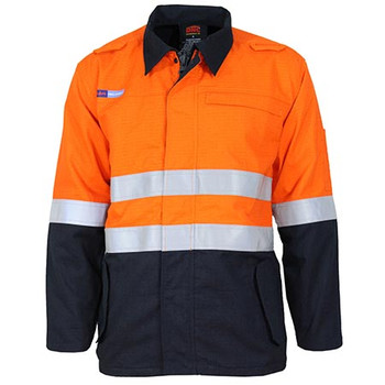 Orange-Navy - 3483 Inherent FR PPE2 2-Tone D/N Jacket - DNC Workwear