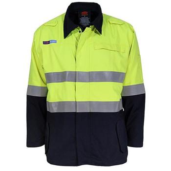 Yellow-Navy - 3483 Inherent FR PPE2 2-Tone D/N Jacket - DNC Workwear