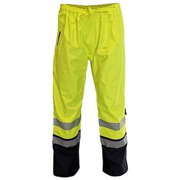 Yellow-Navy - 3472 HiVis FR and HRC2 D/N Rain Pants - DNC Workwear