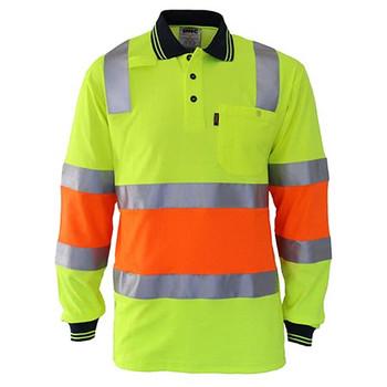 Yellow-Orange - 3819 2-Tone Cotton Back Biomotion Taped Polo - DNC Workwear
