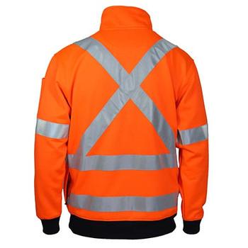 3933 Hi-Vis 1/2 Zip X Back Fleecy Jumper - DNC Workwear