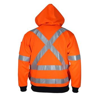 3935 Hi-Vis Full Zip X Back Fleecy Hoodie - DNC Workwear