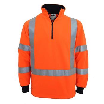 Orange - 3730 Hi-Vis X back and Biomotion taped Polar Fleece - DNC Workwear