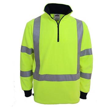 Yellow - 3730 Hi-Vis X back and Biomotion taped Polar Fleece - DNC Workwear