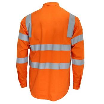 3741 HiVis L/W CSR R/Tape VIC Rail Shirt- L/S - DNC Workwear