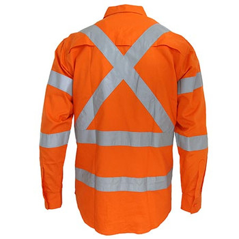 3545 Hi-Vis 3 way vented X back Biomotion taped shirt - DNC Workwear