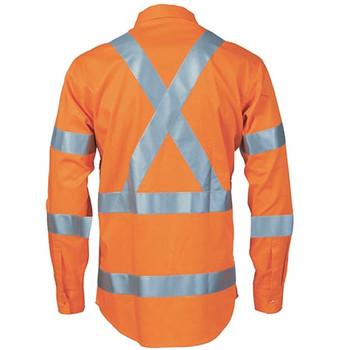 3744 HiVis L/W Bio-motion Shoulder Stripe and X Back Shirt - DNC Workwear