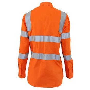 3742 Ladies HiVis L/W Cotton VIC Rail CSR Shirt - DNC Workwear