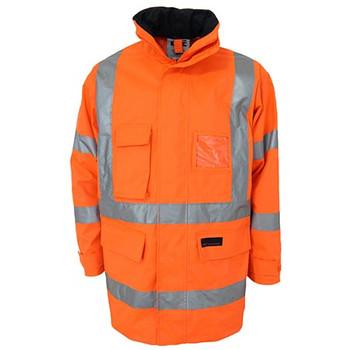 Orange - 3961 HiVis H pattern Biomotion tape jacket - DNC Workwear