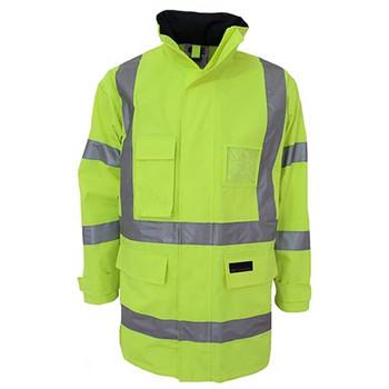 Yellow - 3961 HiVis H pattern Biomotion tape jacket - DNC Workwear