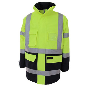 Yellow-Navy - 3962 HiVis H pattern 2T Biomotion tape jacket - DNC Workwear